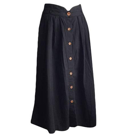 comptoir des cotonniers jupe jupe longue comptoir des cotonniers 36 s t1 noir vendu