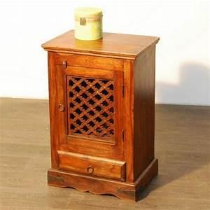 Meuble De Chevet : meuble de chevet arabesque palissandre 1 porte mobilier ~ Teatrodelosmanantiales.com Idées de Décoration