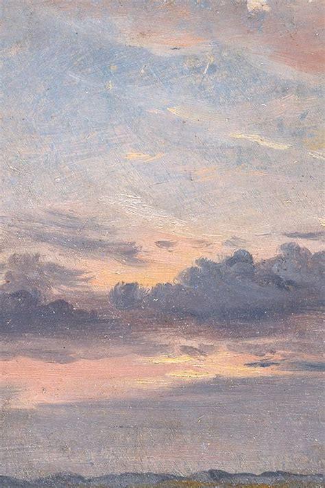 cloud study sunset  john constable   detail