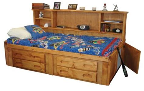 trend wood bunkhouse solid pine twin storage bed