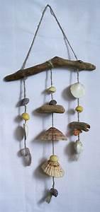 Mobile Bois Flotté : mobile en bois flott s et coquillages et ficelle naturelle ~ Farleysfitness.com Idées de Décoration