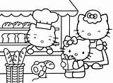 Supermarket Coloring Getdrawings sketch template