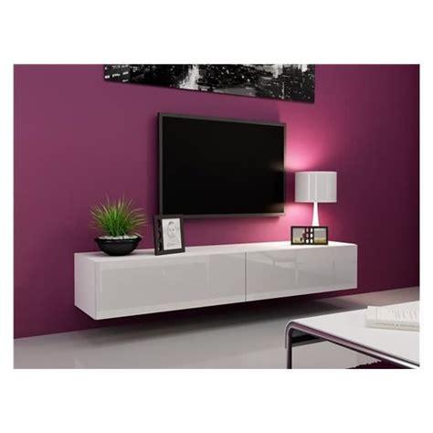 meuble suspendu chambre meubletv design suspendu vito 180 blanc achat vente