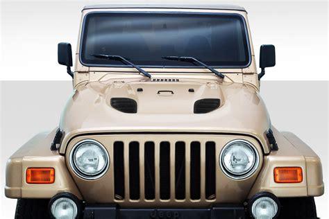 jeep hood duraflex power dome hood body kit 1 pc for wrangler jeep