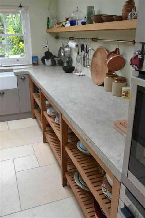 beton pour plan de travail cuisine plan de travail 35 exemples en béton ciré