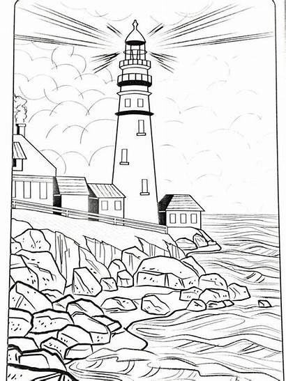 Lighthouse Coloring Printable Leuchtturm Malvorlagen Colorear Patterns