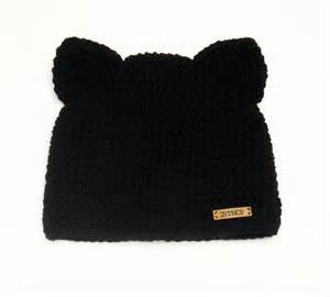 cat ear beanie crochet cat hat cat beanie cat ear hat winter hat animal
