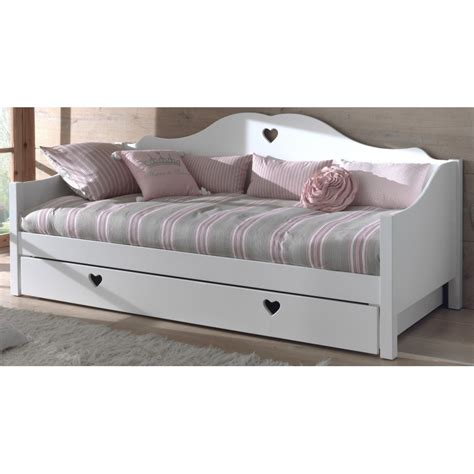 lit banquette avec tiroir lit couchage 90 x 200 cm blanc