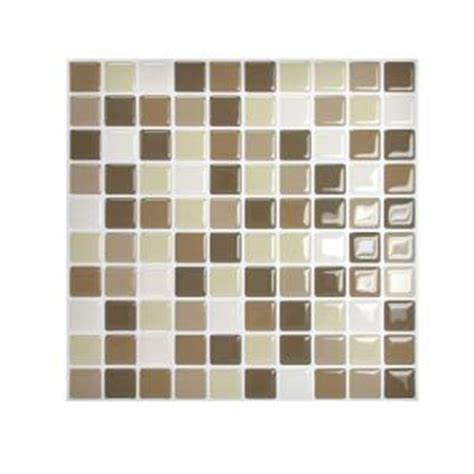 mosaic kitchen backsplash smart tiles 9 85 in x 9 85 in adhesive decorative tile 4284