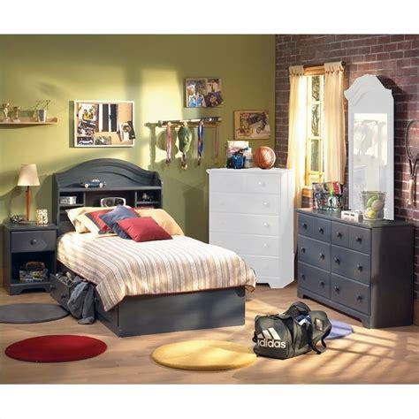 blue bedroom furniture sets south shore summer antique blue wood captain s bed 4 bedroom set