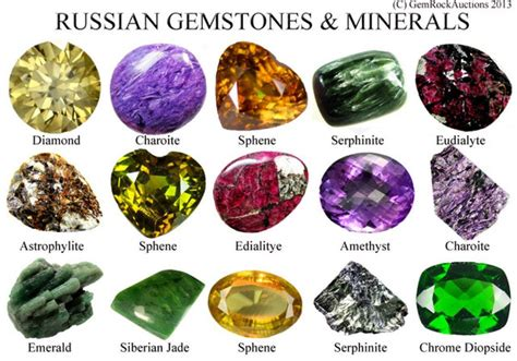 list of gemstones found in russia minerals from gem rock auctions gemstones gems minerals