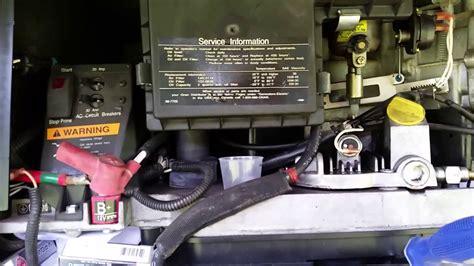 onan  marquiz generator fuel pump trouble shooting