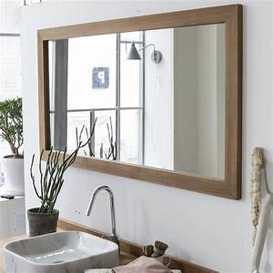 milano mirror teak mirrors 140x70 sale at tikamoon With miroir 140