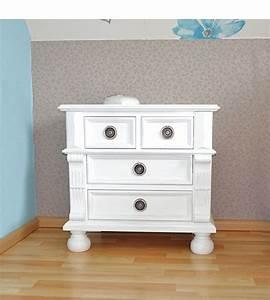 Nachttisch Weiß Landhaus : landhaus nachttisch mit 4 schubladen massiv aus holz ~ Whattoseeinmadrid.com Haus und Dekorationen