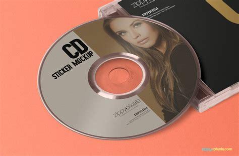 cd jewel case cd label mockup  psd