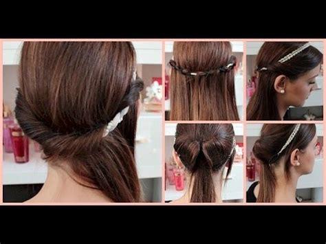 minuten haarband frisuren einfache und schnelle