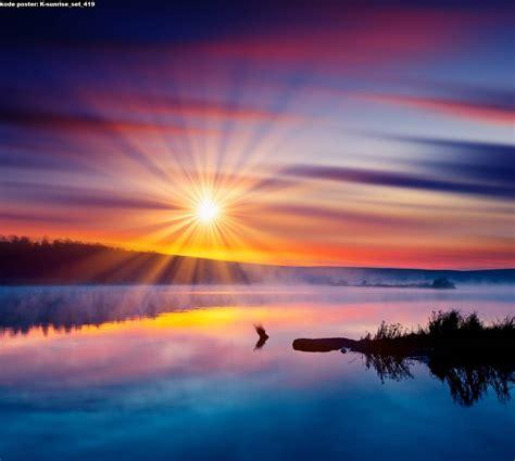 background pemandangan sunrise hd gratis