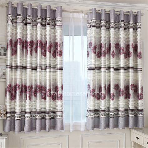 ombre shower curtain gray polyester printed with burgundy bay window