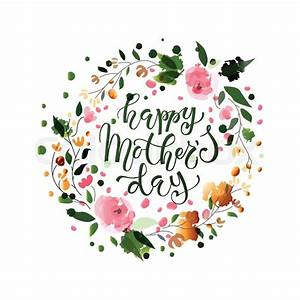 Happy Mother's Day text as Mother's Day badge, tag and ...
