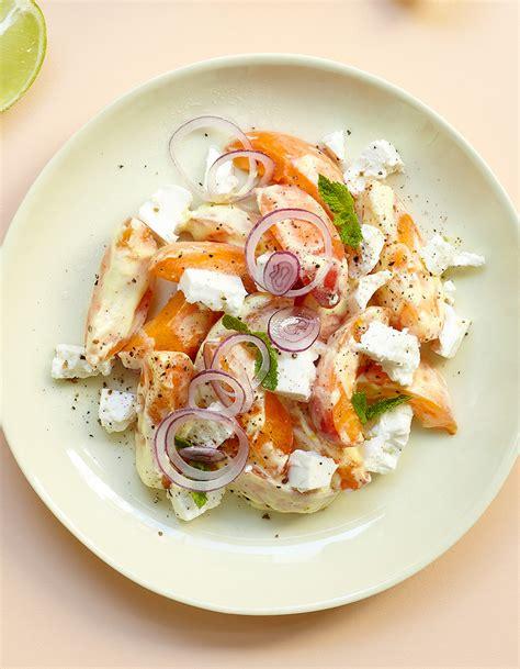 site recettes cuisine salade abricots feta pour 4 personnes recettes à table