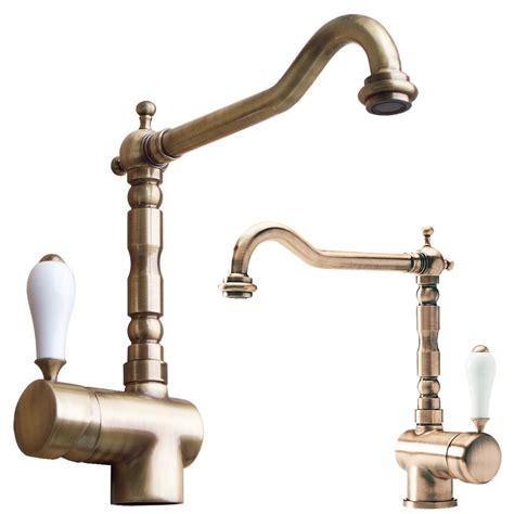 rubinetti cucina ottone antico mix una serie di pregio completa di miscelatori