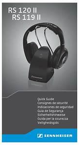 Sennheiser Rs 119 Ii Quick Manual Pdf Download