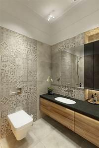 Faience Imitation Carreaux De Ciment : salle de bain avec fa ence imitation carreaux de ciment ~ Dode.kayakingforconservation.com Idées de Décoration