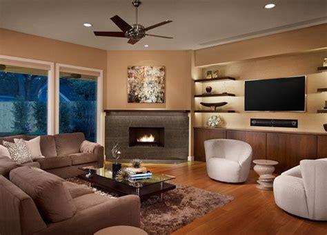 Cozy Living Rooms  Corner Fireplace Concept Ideas Abpho