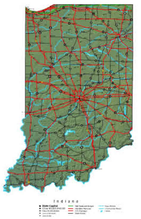 indiana map  maps  indiana state
