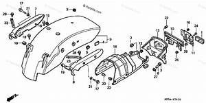 Honda Motorcycle 2000 Oem Parts Diagram For Rear Fender