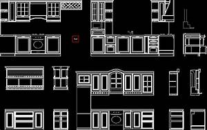 Classic Kitchen DWG Section for AutoCAD • Designs CAD