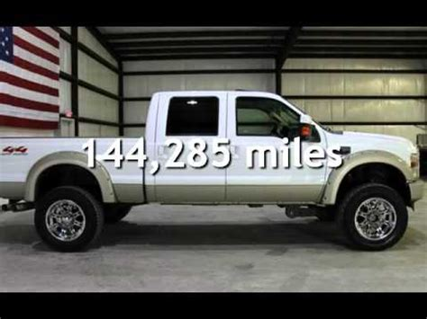 2008 Ford F 250 6.4L DIESEL 4X4 KING RANCH LIFTED FRESH