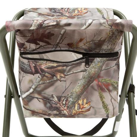 chaise chasse pocket camouflage marron solognac