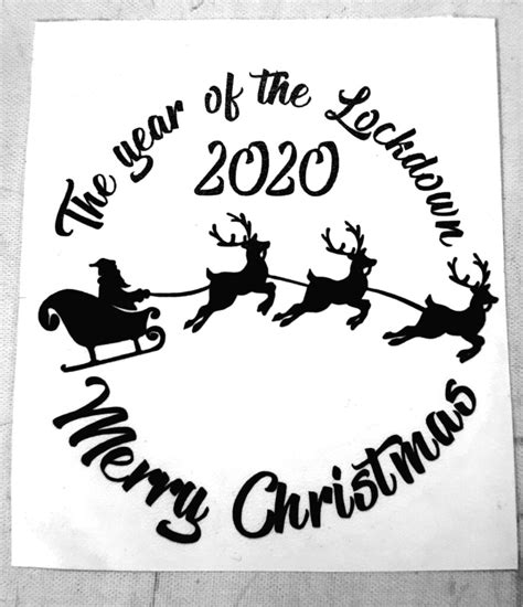 'The Year Of Lockdown 2020 Merry Christmas' Vinyl (To Fit ...