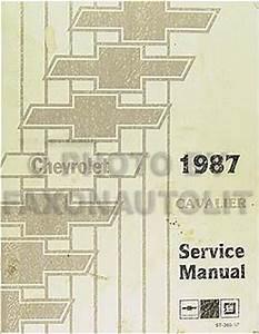 1987 Chevy Cavalier Repair Shop Manual Original