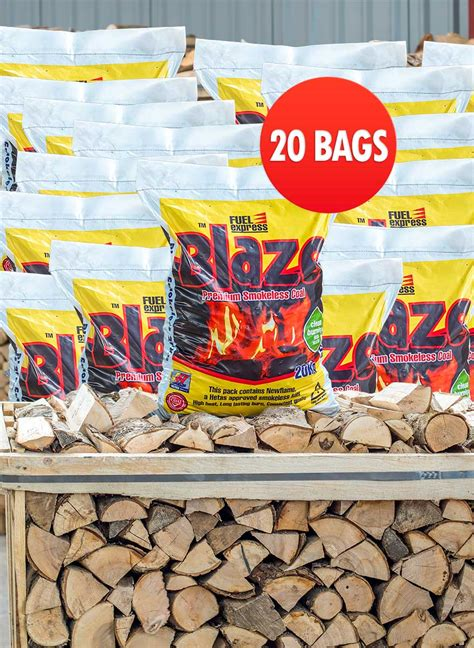 blaze smokeless coal kg   bags