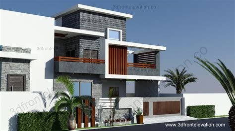 3d Front Elevationcom 10 Marla Contemporary House Design
