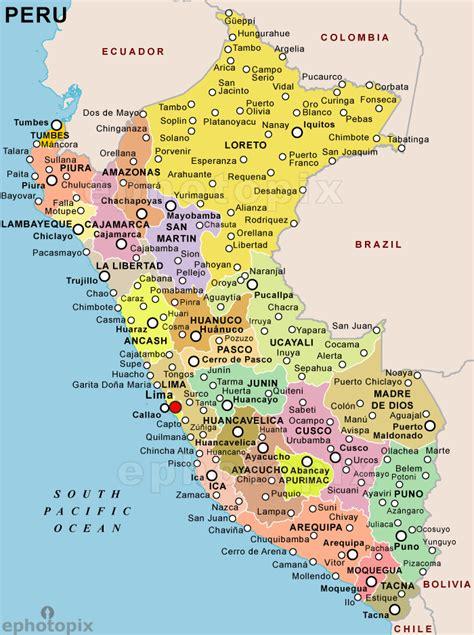 peru map  cities peru political map peru peru