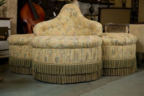 borne settee for sale upholstered borne or circular sofa at 1stdibs