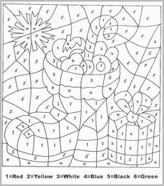 Color by Numbers Animal Coloring Pages for Kids (part I