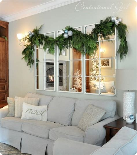 christmas home   home decor mirror  couch