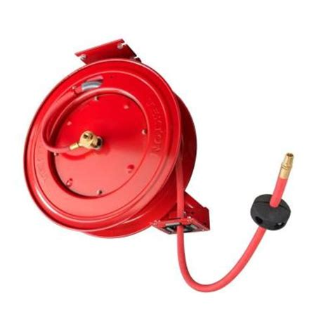 tekton retractable air hose reel with 3 8 in id by 50 ft