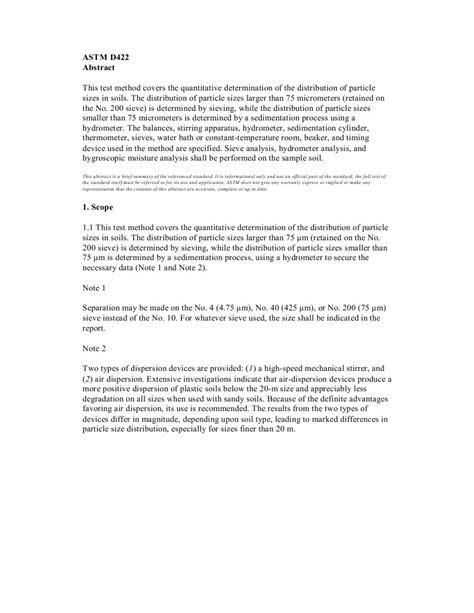 ASTM D422 Granulometria