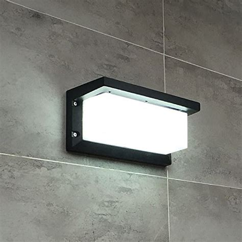 lightess wall light led wall sconce square metal bulkhead