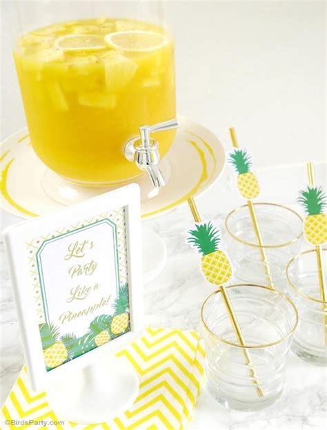 pineapple birthday party printables supplies birdspartycom