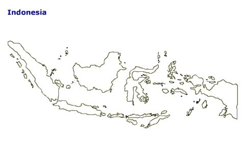 map  indonesia terrain area  outline maps