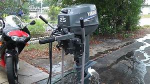 2007 Yamaha 25hp 2 Stroke Shortshaft Outboard Motor