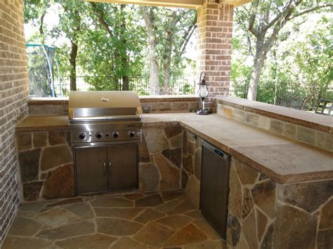 Outdoor Kitchens Dallas Stone Bar Outdoor Living Keller TX