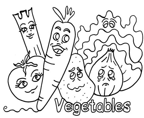 desenhos de vegetais  colorir