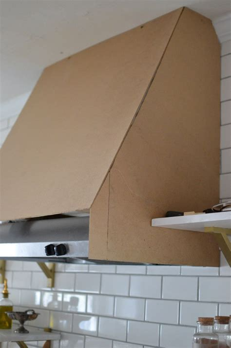 Kitchen Vent Plans by Diy Range Cover Kitchen Vent With Shelving